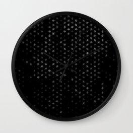 leo zodiac sign pattern bw Wall Clock