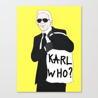 karl Canvas Prints featuring Karl by Neon Wonderland