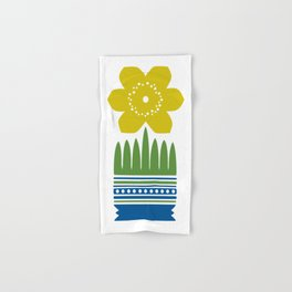 Nordic Yellow Flower Hand & Bath Towel