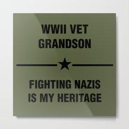 WWII Grandson Heritage Metal Print