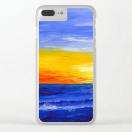 Ocean Sunset Clear iPhone Case