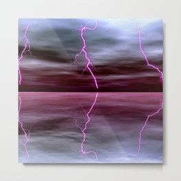 Lightnings Reflection Metal Print