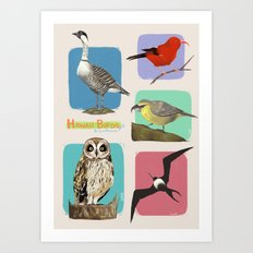 Hawaii Birds Collection Part 2 Art Print