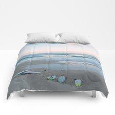 Sunset surf Comforters