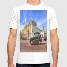 Taxi Buckingham Palace White MEDIUM Mens Fitted Tee