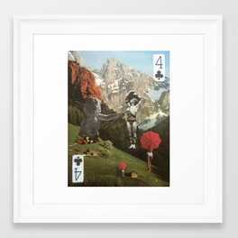 Four of Clubs Framed Art Print