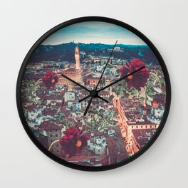 Dahlia Giants in Florence Wall Clock