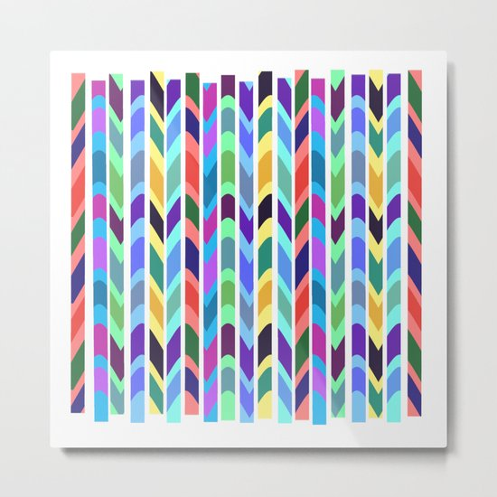 Waves and stripes Metal Print