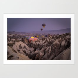 Morning in Cappadocia Art Print