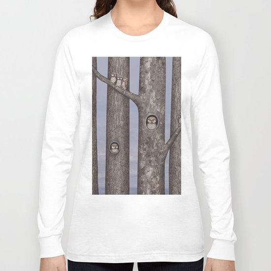 owls in trees Long Sleeve T-shirt