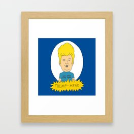 TRUMP-HEAD Framed Art Print