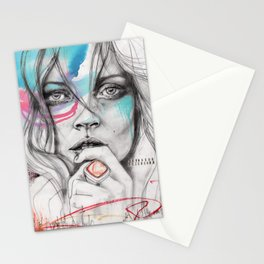 Kate Moss by Leo Tezcucano Stationery Cards