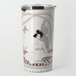 Costumes Parisiens Costume de bain (1913) fashion  in high resolution by George Barbier Travel Mug