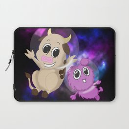 Cow and Alien Laptop Sleeve