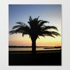 Silhouette of a Palm  Canvas Print