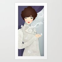 The Wings of the Dove: Violet Art Print
