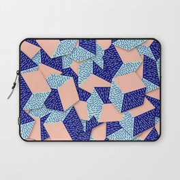 Colorful Aqua Geometric Pattern Laptop Sleeve