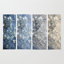 Vincent Van Gogh : Almond Blossoms Panel Art Blue Beige Rug