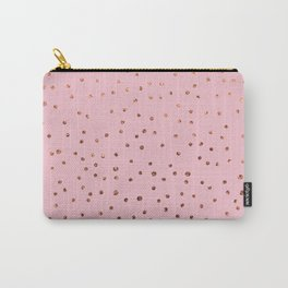 Rose Gold Dots on Pink Carry-All Pouch