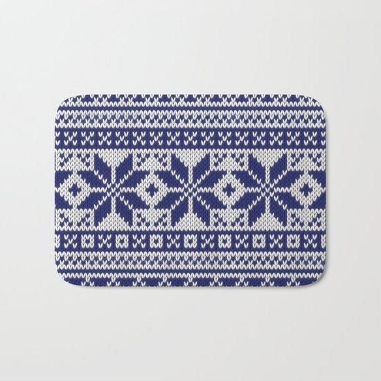 Winter knitted pattern 5 Bath Mat