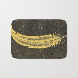 Yellow Feather Bath Mat