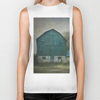 rustic Biker Tanks featuring Rustic Barn by Pure Nature Photos
