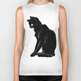 """Théophile Steinlen """"Cats: Pictures without Words (Cat and frog)"""" Biker Tank"""