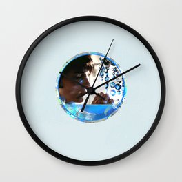 Crystals - Blue  Wall Clock