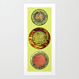 Food Mix Tris Art Print