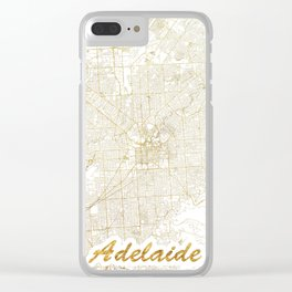 Adelaide Map Gold Clear iPhone Case