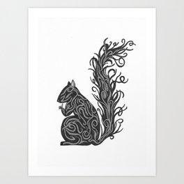 Shiny Squirrel Art Print