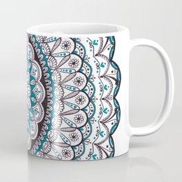 A turquoise Mandala Art Coffee Mug