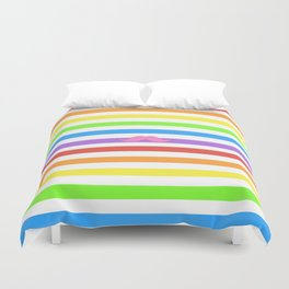 Pink Rainbow Mustache Madness! Duvet Cover