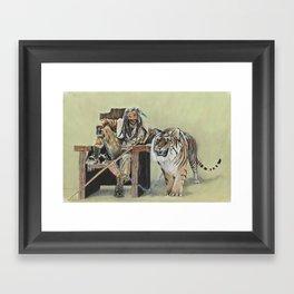 King Ezekiel and Shiva Framed Art Print