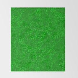 Neon Green Alien DNA Plasma Swirl Throw Blanket