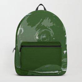 Waterdrop on Green Backpack