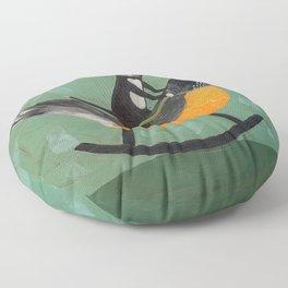 Cat on a Rocking Robin Floor Pillow