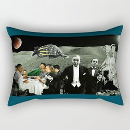 arriving at the half moon without an invitation Rectangular Pillow