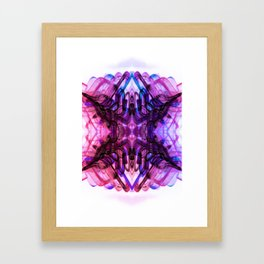 Dreaming Deeply Wavy Abstract Pattern Framed Art Print