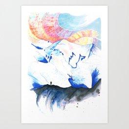 Mont Blanc Sunset Art Print