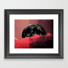 ME(N)TAL MOON Framed Art Print