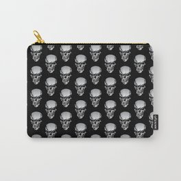 Chrome Skull Illustration Carry-All Pouch