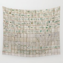 The Complete Voynich Manuscript - Natural Wall Tapestry