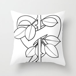 Rose Valentine Throw Pillow