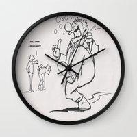 drunk Wall Clocks featuring Always Drunk by MissCrocodile63