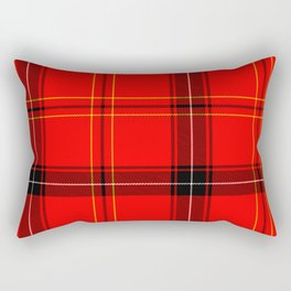 Red Plaid Rectangular Pillow