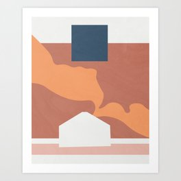 Color and Shape - Goblin Valley Yurt Art Print
