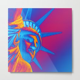 Pop Art Statue of Liberty Metal Print
