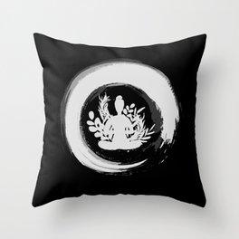 Zen Circle Buddhism Throw Pillow