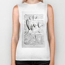 Love in Words Biker Tank